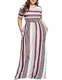 d6ef1fb28760 Amazon.fr   Robe Marinière - Femme   Vêtements