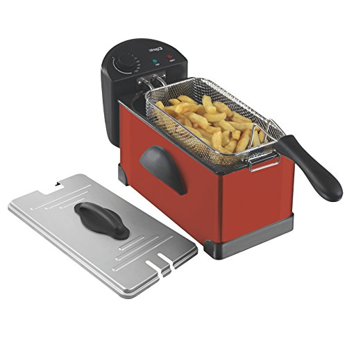 4134j8zSH%2BL. SS500  - Elgento Stainless Steel Fryer with Variable Temperature Control, Power and Cooking Indicator Light, Cool Touch Handle, 2000 W, 3 Litre, Black