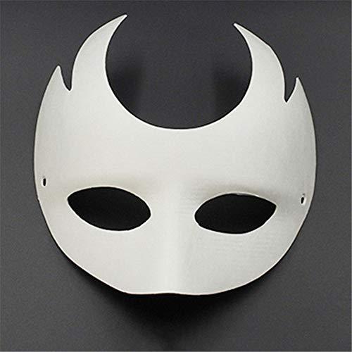 RENS 12 Stück DIY Maske Fashion White Paper unpainted Mask for Men Women Kids Karneval Face Masken (Halloween-gesicht-malerei Einfache Kid)