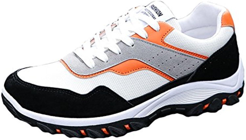 Hibote Herren Laufschuhe Atmungsaktiv Gym Turnschuhe Freizeit Schnürer Sportschuhe Sneaker
