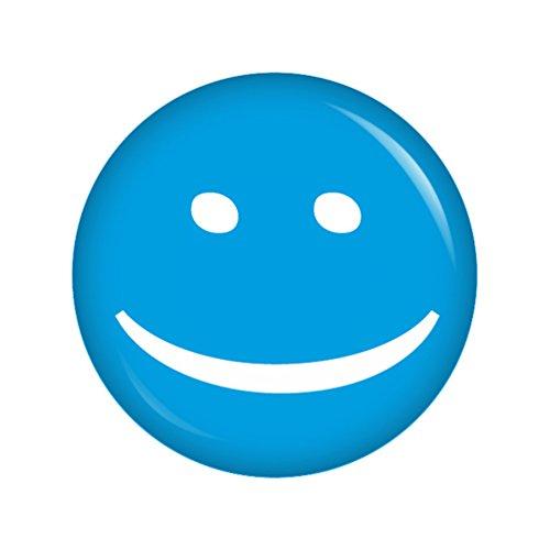 Preisvergleich Produktbild Kiwikatze® Kleine Freunde - Smiley blau 37mm Button Ansteckbutton Geschenk Mitbringsel