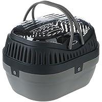 Wangado Robuste Transportbox aus Kunststoff für Kaninchen, Schweinchen, Cincilla 'und kleine Nagetiere, Öffnung oben und zwei Griffen