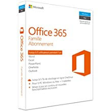 Office 365 Famille | 5 PC Windows ou Mac + 5 tablettes | 1 an | Téléchargement