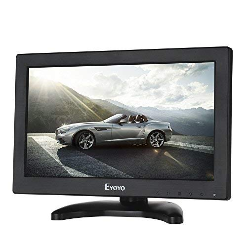 Eyoyo HDMI HD Monitor 11.6 Zoll TFT LCD CCTV Farben Bildschirm mit AV/HDMI/BNC/VGA Funktion Für Auto/DSLR/PC/DVD/Auto-Rückspiegel-Kamera (Computer-monitor-rückspiegel)