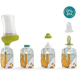 Babymoov Starter Kit Foodii avec 10 Gourdes Réutilisables Bébé & Enfant