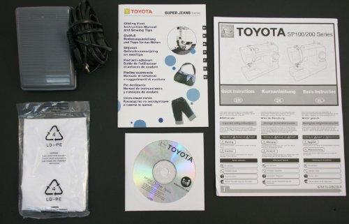 Toyota SUPERJ15PE Allround Freiarm Nähmaschine mit 15 Programmen, Jeansfunktion und Anschiebetisch -