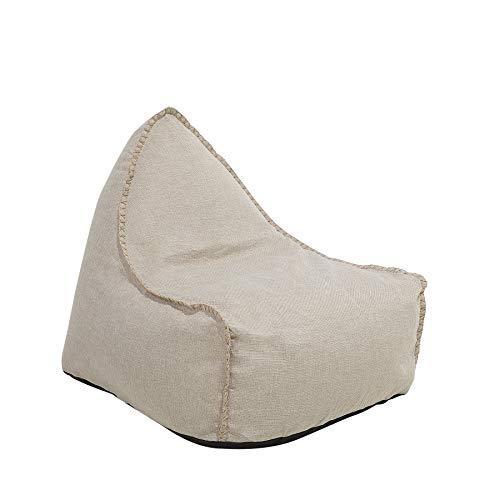Beliani Sitzsack beige Drop Linen