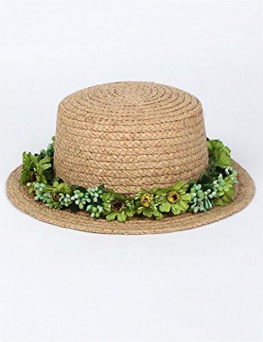 Chapeau de soleil femelle été sauvage Petit chapeau Sunscreen chapeau de soleil Voyage chapeau de paille Plage Cap ( Couleur : 2 ) 6