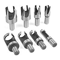 Amaoma Wood Plug Cutter Set Plug Cutters for Wood Set Wood Plug Tenon Drill Bit Cutter 6mm 10mm 13mm 16mm Taper Claw Type Wood Plug Cutter Carbon Steel Drill Woodworking Tool Set 8 Pieces