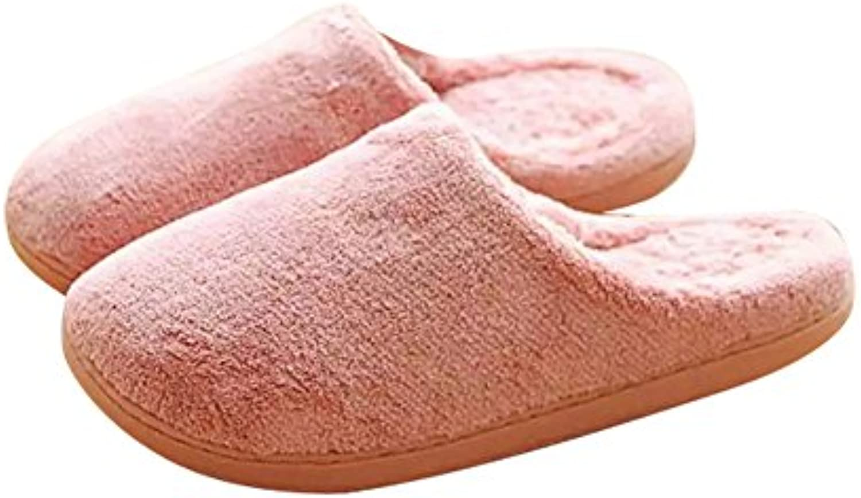 Cosanter - Zapatillas de estar por casa para mujer rosa rosa 34