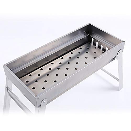 4134mRK3XWL - CBWZDJZDS BBQ Outdoor Carbon Einweggrill Klappgrill Regal Tragbarer Grill Picknickkocher 44X20X35Cm