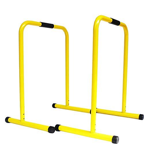 DLSMB-SP Barren Funktioneller Hochleistungs-Fitness-Workout-Dip-Bar-Stabilisator-Push-Up-Ständer (Farbe : Gelb, Größe : 80 * 63 * 46cm)
