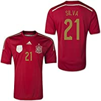 2014-15 Spain World Cup Home Shirt (Silva 21) - Kids