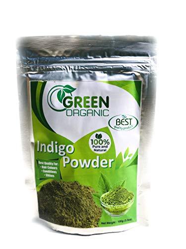 Pure Indigo-Puder, natürliche Haarfarbe, Ammoniak, PPD, ohne Chemikalien, mit Henna, zum Erreichen von Kastanienbraun/Schwarz, 100 g (Ohne Ppd-haar-farbe)