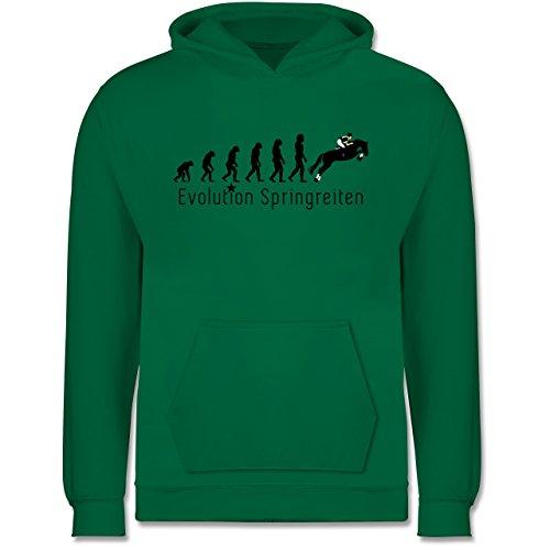Evolution Kind - Springreiten Evolution - 7-8 Jahre (128) - Grün - JH001K - Kinder Hoodie