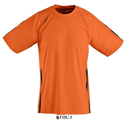 SOL'S - T-shirt de sport -  Homme Multicolore - Multicoloured - Orange / Black