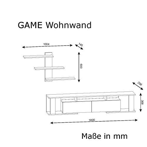 Wohnwand GAME Weiß 3597 - 5