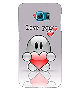 ColourCraft Love Design Back Case Cover for SAMSUNG GALAXY S6 EDGE G925