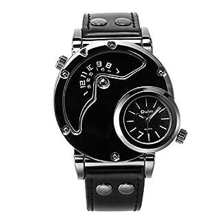 Herren-Quarz-Analoge-Uhr-Sport-Doppelzeit-Armbanduhr-Mnner-Gentleman-coole-stylische-Neuheit-Uhr-mit-groer-Anzeige-mit-schwarzem-Lederarmband-fr-Herren