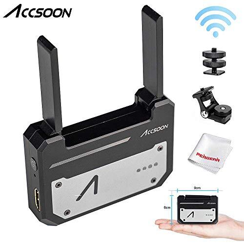 Accsoon CineEye 5G Wireless Video Transmitter,Echtzeitüberwachung über WLAN, unterstützt 4 IOS- / Android-Geräte, Graustufen, RGB, Falschfarben, 3D-LUT-Beladung mit kaltem Schuhhalter -