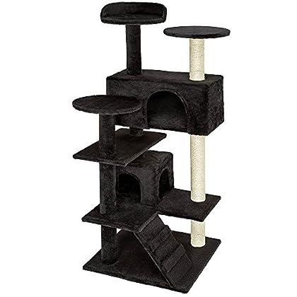 TecTake Rascador Árbol para gatos Sisal - disponible en diferentes colores - (Negro | No. 401772)