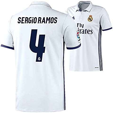adidas Kinder Trikot Real Madrid Home Jersey Youth (Sergio Ramos 4, 152)