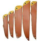 TUYU PU-Leder-Messerscheide, Messerschutz, Ledermesser, Scheide passend, Klingenschutz, Messerabdeckung, 5 Stück TYDB506