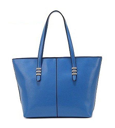 Keshi Pu Nouveau style - Sac à main femmes - Porté MAIN et EPAULE Bleu Saphir