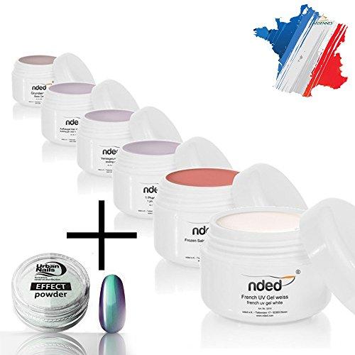 Kit manucure découverte NDED avec gels UV + pigments Urban Nails en KDO