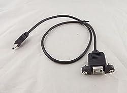 Generic 10x 50cm Mini USB 5Pin Male To USB 2. 0 B Female Socket Printer Panel Mount Cable