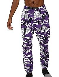 Juleya New Hombre Camo Pantalones Streetwear Street Camuflaje Pantalones  Hip Hop Pantalones Pantalones Cargo Multi Bolsillos 7e95e827730