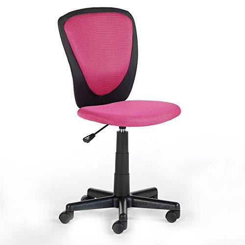 Kinderdrehstuhl Schreibtischstuhl Kinderschreibtischstuhl Drehstuhl HEINO in pink, höhenverstellbar