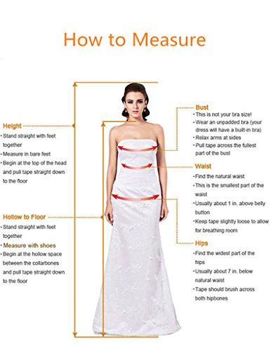 HWAN Frauen Aline V-Ausschnitt Kleider lange plissierte Chiffon Brautjunferkleid-Abend Fuchsie