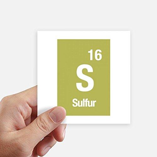 DIYthinker S Schwefel chemisches Element Wissenschaft Quadrataufkleber 10Cm Wand Koffer Laptop Motobike Aufkleber 8Pcs 10cm x 10cm Mehrfarbig -