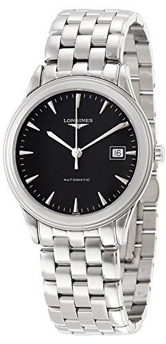 Longines Men's Steel Bracelet & Case Automatic Black Dial Analog Watch L48744526