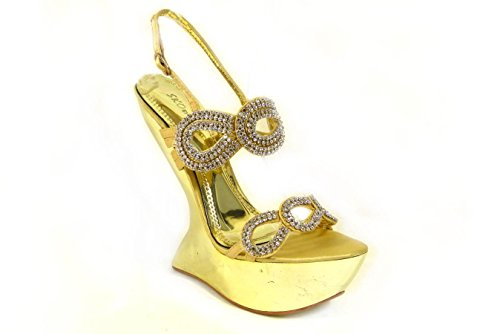 SKO'S , Bride de cheville femme Gold (d78-20)