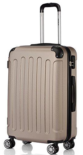 BEIBYE 2045 Hartschale Koffer Kofferset Trolley Reisekoffer Größe XL-L-M in 12 Farben (Champagner, L)