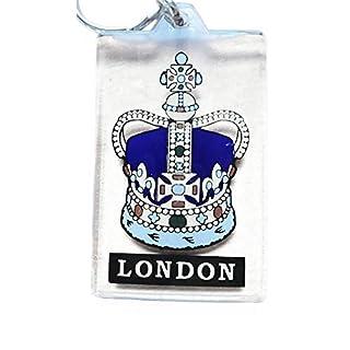 Queen's Crown / Artistic London Keychains, England, Key Ring, Keyring, Souvenir Plastic Square Keychains! Artistique! / Künstlerisch! / Artistico! / artístico! Imperial State Crown Keychain! Porte-clés! / Schlüsselanhänger! / Portachiavi ! / llaveros!