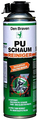 Den Braven Profi PU Schaumreiniger 500 ml, Hochaktiver Reiniger Zum Spülen Von PU Montagepistolen Und Frisch Verarbeitetem PU Schaum, HRS100400500 (Schaum Spülen)