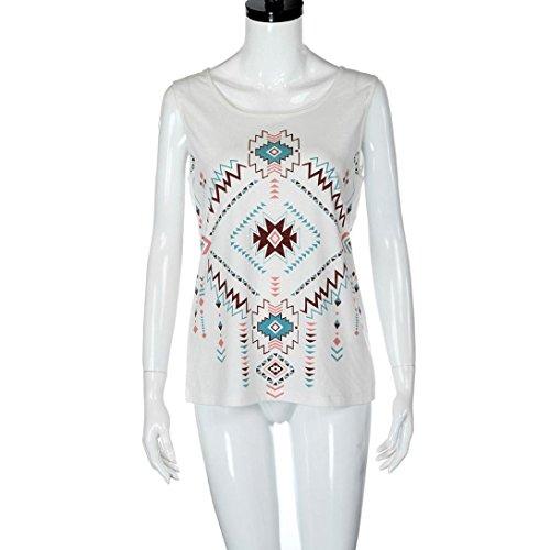 Ouneed® Femme Bohemia Débardeurs T-shirt Casual Blouse B