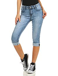 Koucla Jeansshorts Kurze Hose Jeans Shorts mit Pailletten