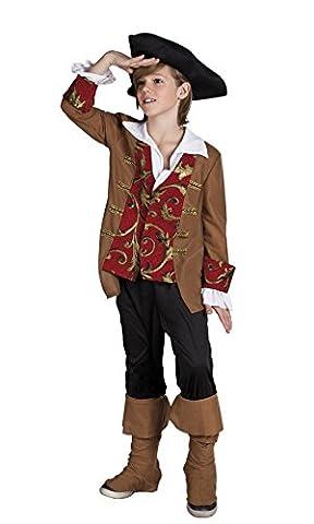 Halloweenia - Jungen Piraten Kostüm, Karneval, Fasching, Mehrfarbig, Größe 122-134, 7-9 Jahre