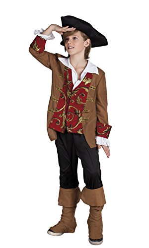 Piraten Kostüm, Karneval, Fasching, Mehrfarbig, Größe 104-116, 4-6 Jahre (Jack Sparrow Kostüm Jungen)