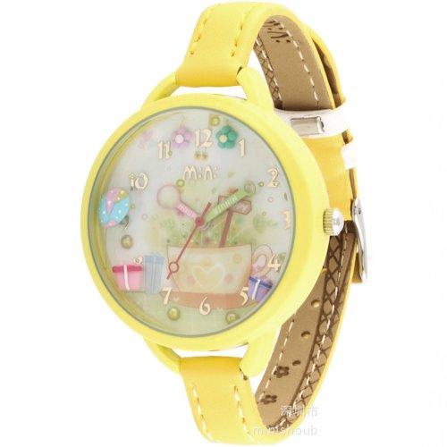 ufengker-montre-a-bracelet-jaune-bracelet-en-bord-jaune-cadran-double-vitrage-argile-polymere-dames-