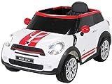 Kinder Elektroauto Mini Cooper Paceman Lizenziert 2x45 Watt Motor Weiß - Elektro Auto Elektroauto Kinderauto