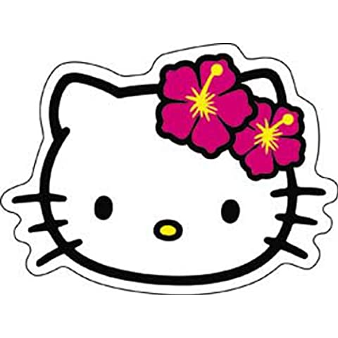 HELLO CIAO KITTY Head testa Shot tiro STICKER ADESIVO, Officially Licensed Cartoon / Hello Kitty (Ciao Kitty Carta)