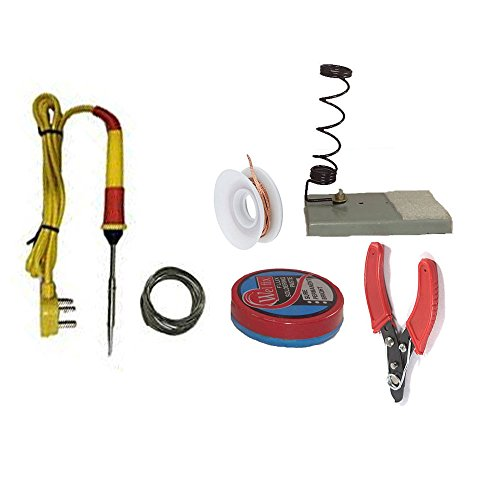 GILHOT ® Soldering Kit Economic Range - 6 in One soldering kit with all basic instruments to learn soldering. Made with best basic components to make learning simple and safe  available at amazon for Rs.330