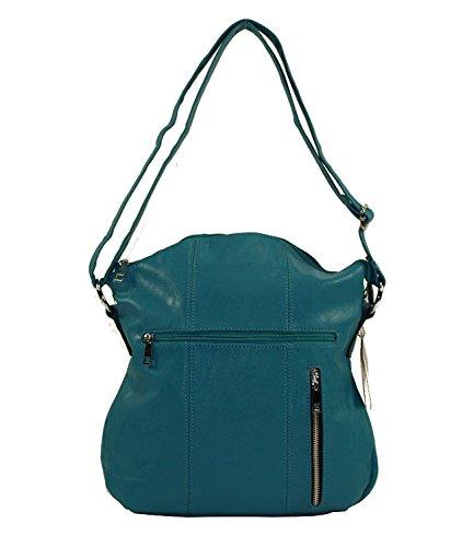 Damenhandtasche Shopper Bag Kunstleder Tasche hochwertige Lederoptik Neu 23 (Gelb) Grün