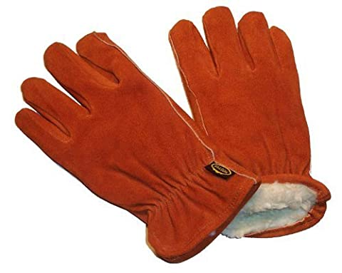 G & F 6454XL-3 Suede Cowhide Leather Gloves with Pile Lined, Winter Must Have, 3-Pair, X-Large by G & F