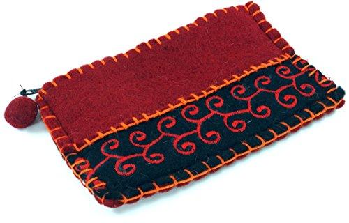 Guru-Shop Portemonnaie aus Filz, Herren/Damen, Rot, Wolle, 10x15 cm, Filz Portemonnaies -